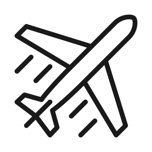black airplane icon